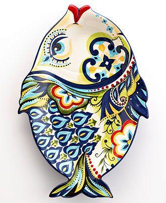 Espana Serveware, Bocca Geo Fish Platter - Serveware - Dining & Entertaining - Macy's