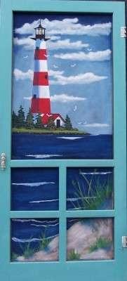 Painted Window Screens by Razzo in Hampden.