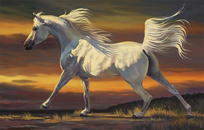 Horse painting by Nancy Davidson