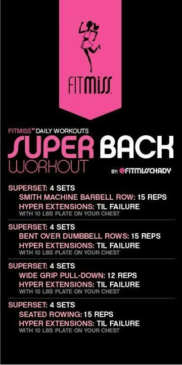 Super Back Workout by Fitmiss