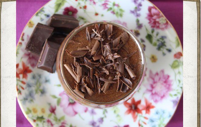 Μους σοκολάτα με λεμόνι