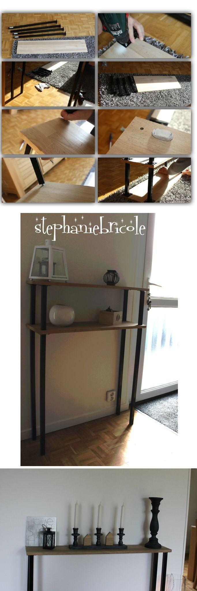 DIY déco - faire un meuble console au style industriel soi même, rapide et pas cher - Stéphanie bricole