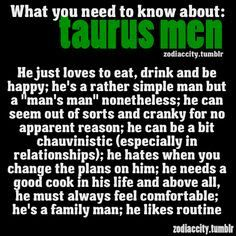 taurus male traits - Google Search