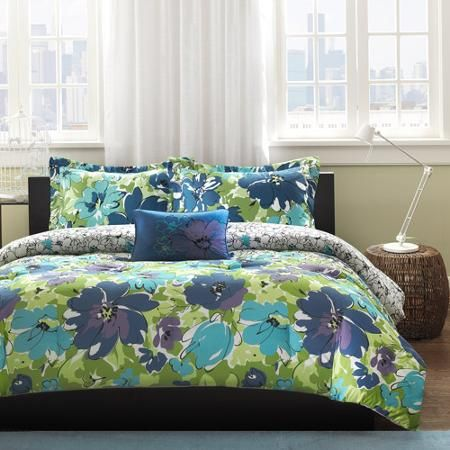 home essence apartment cynthia bedding comforter set blue walmartcom