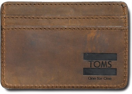 my dad needs a money clip walet    dad do you like  ?????      Brown Leather TOMS Money Clip | TOMS.com #toms