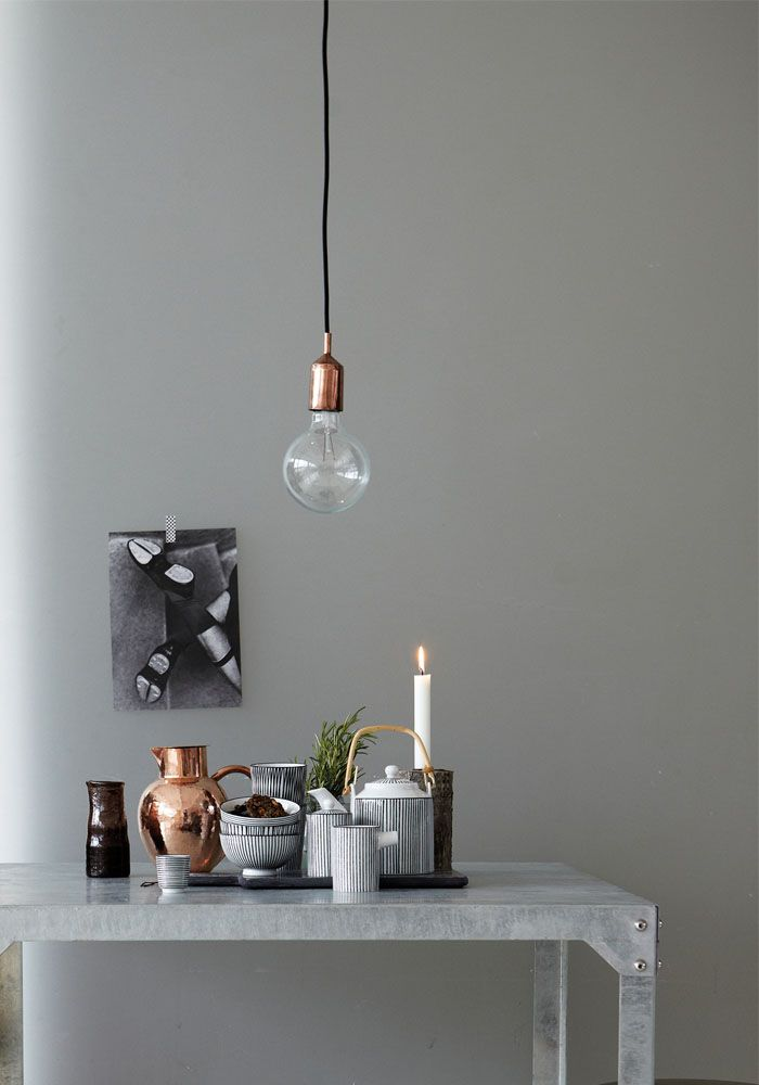 Kant Copper Pendant Light by House Doctor