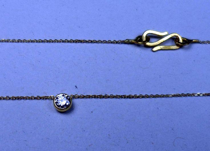 Diamantanhänger Ganz bezaubernd zart am Hals…ein Hauch Diamant.