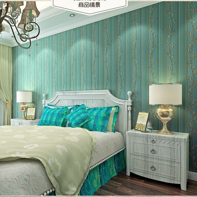 papeles de la pared de lujo con textura de papel tapiz de rayas verticales no tejido
