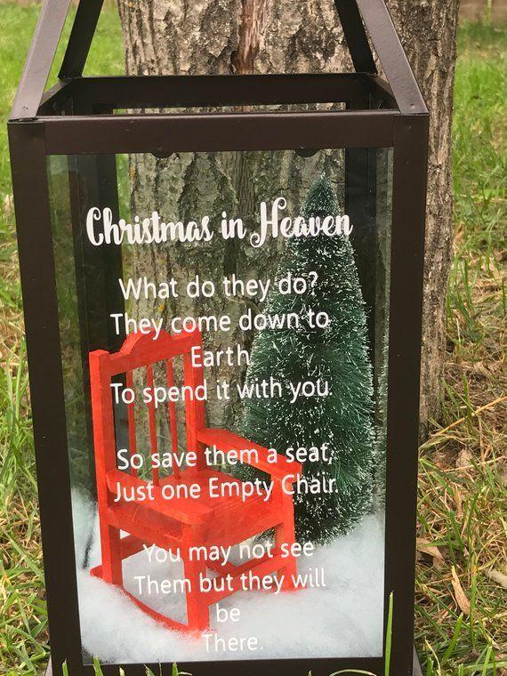 Christmas In Heaven Lantern.Christmas In Heaven Lantern Memorial Lanterns Christmas