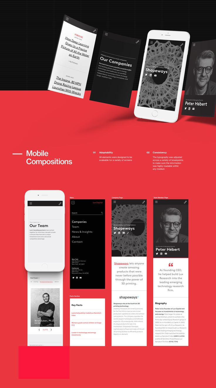 Lux Capital Website Redesign on Behance