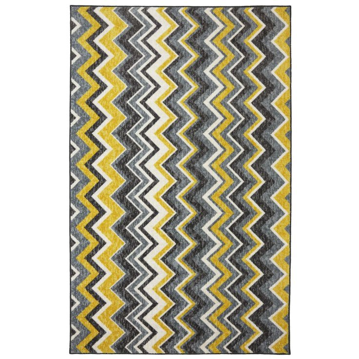 New Wave Yellow/Gray Area Rug