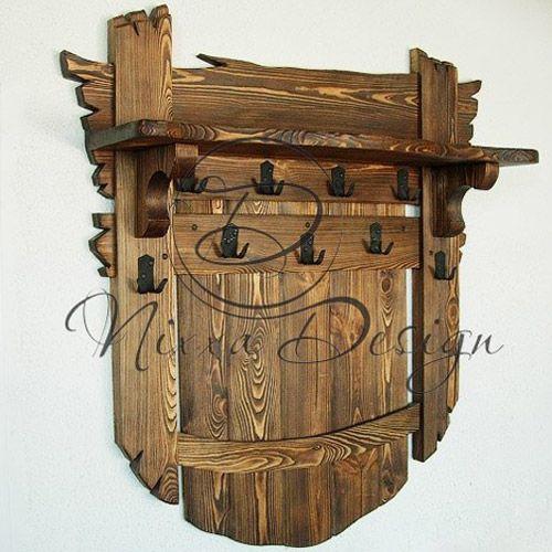 Вешалка на стену №1 - Nixxa Design — Мебель под старину и эксклюзивный интерьерный текстиль