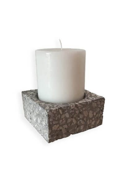 The Reisa Candle Holder is an elegant candle holder, perfect for pillar candles; a fantastic minimalist candle holder that is a stylish addition to any room