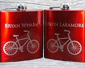 2 Flasks Wedding party favors, Set of 2 engraved Flasks, Groomsmen flask, Best man flask, Custom engraved 6oz flask.,personalized flask