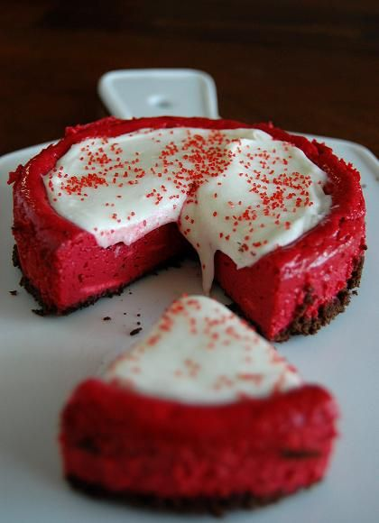 Red Velvet Cheesecake  Culinary Concoctions by Peabody  http://www.culinaryconcoctionsbypeabody.com/2008/12/02/yes-virginia/