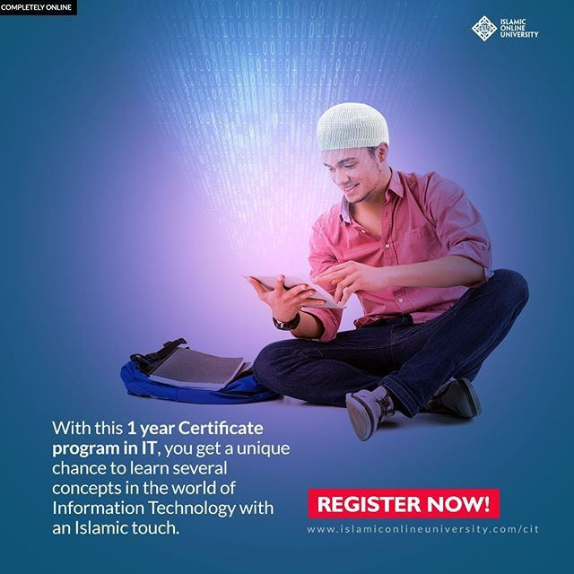 Have you ever downloaded or searched through a Qur'an or hadith application and wished to have the knowledge of making in order to get that enormous continuous reward? The Certificate in Information Technology (CIT) by Islamic Online University is the int