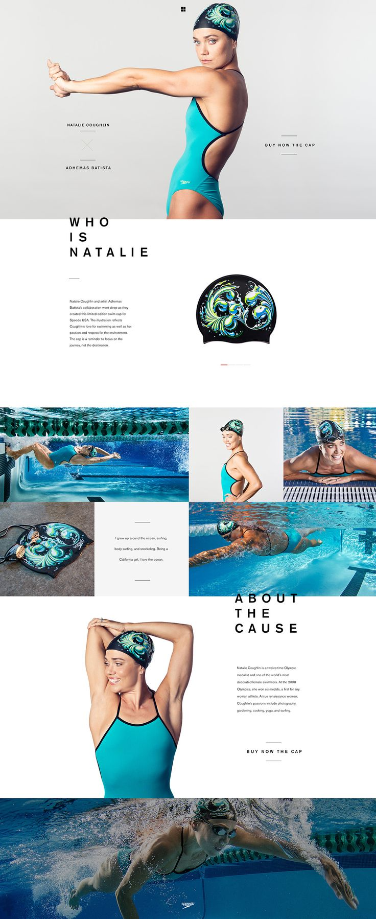 """Speedo """"the art of the cap"""" by André do Amaral"""