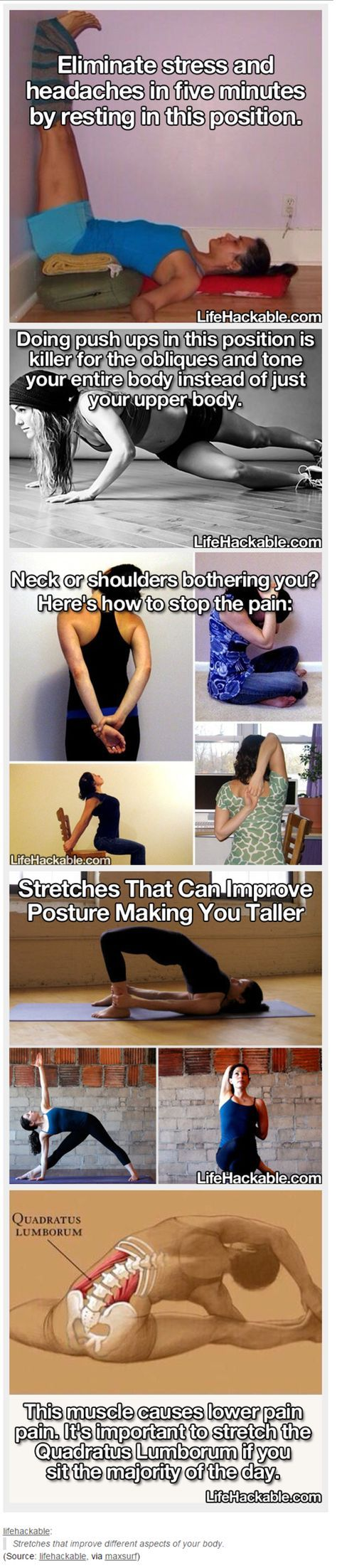 Stretches that improve different aspects of your body | Life Hacks | Know Your Meme