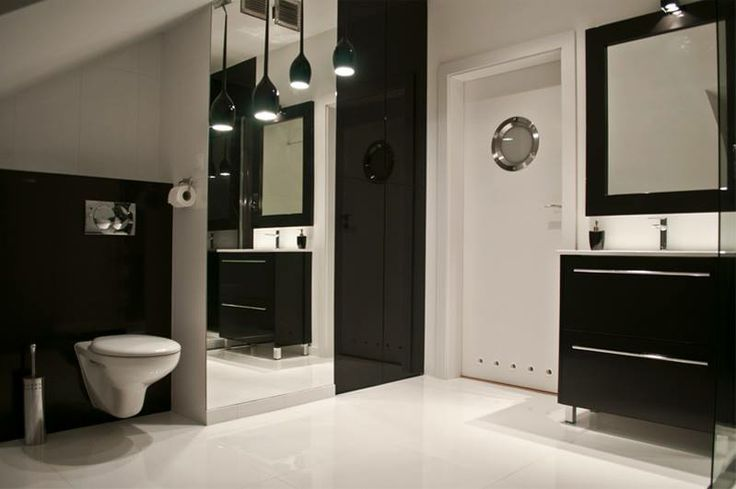 modern, black&white bathroom