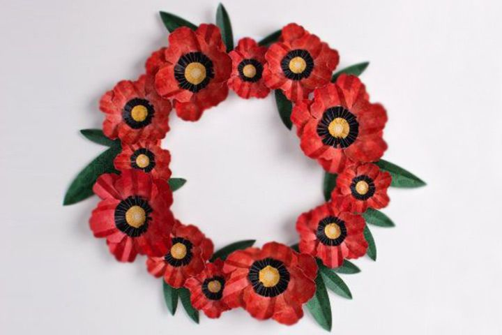 Remembrance Day Crafts Poppy Wreath
