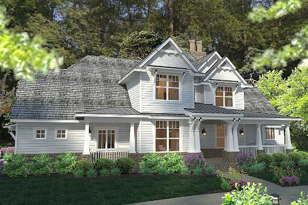 Elegant Farmhouse Home Plan - 16865WG | Country, Farmhouse, Photo Gallery, 1st Floor Master Suite, Bonus Room, Butler Walk-in Pantry, CAD Available, Den-Office-Library-Study, PDF, Corner Lot | Architectural Designs