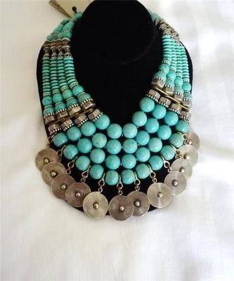 Designer Masha Archer 'Turquoise Pavillion' Collar Necklace Retail $3000 | eBay