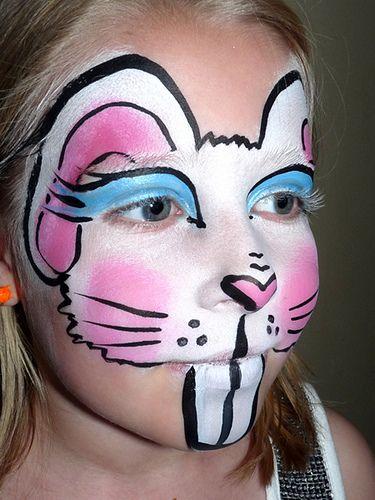 Rabbit face painting | Flickr - Photo Sharing!