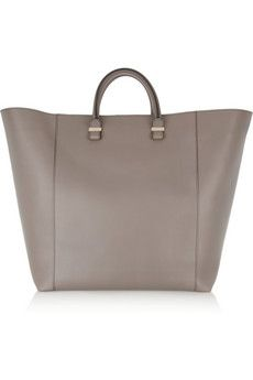 [victoria beckham] shopper leather tote: Victoria Beckham Shoppe, Shoulder Bags, Messenger Bags, Animal Faces, Totes Bags, Beckham Totes, Leather Totes, Shopper Leather, Grey Leather