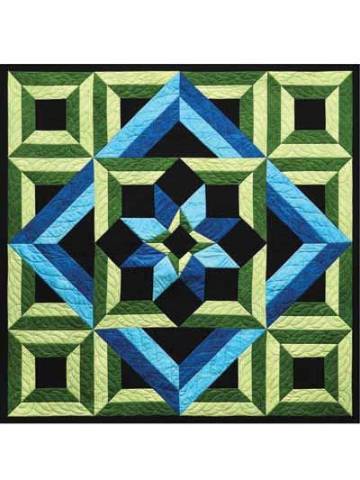 Meditation Quilt Pattern. now that's graphic!!
