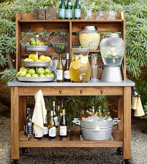 Opções para bar em mini wedding