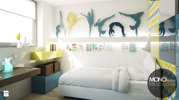 Jasne, przestronne, ale jednocześnie przytulne wnętrza pokoju dla dziecka. - zdjęcie od Monostudio Wnętrza - Pokój dziecka - Styl Nowoczesny - Monostudio Wnętrza