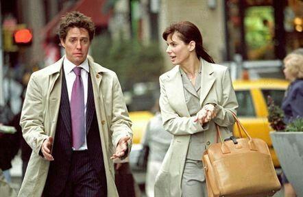 L'Amour sans préavis : Photo Hugh Grant - Sandra Bullock