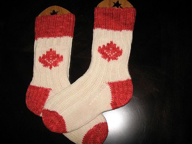 Canadian Socks by knitluvr, via Flickr
