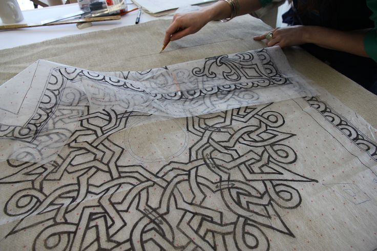 Tutorial - how to transfer a rug hooking pattern using red dot