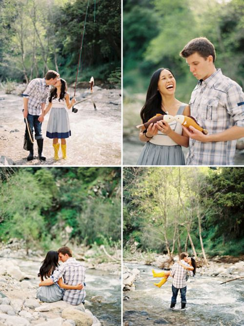 fishing engagement pictures