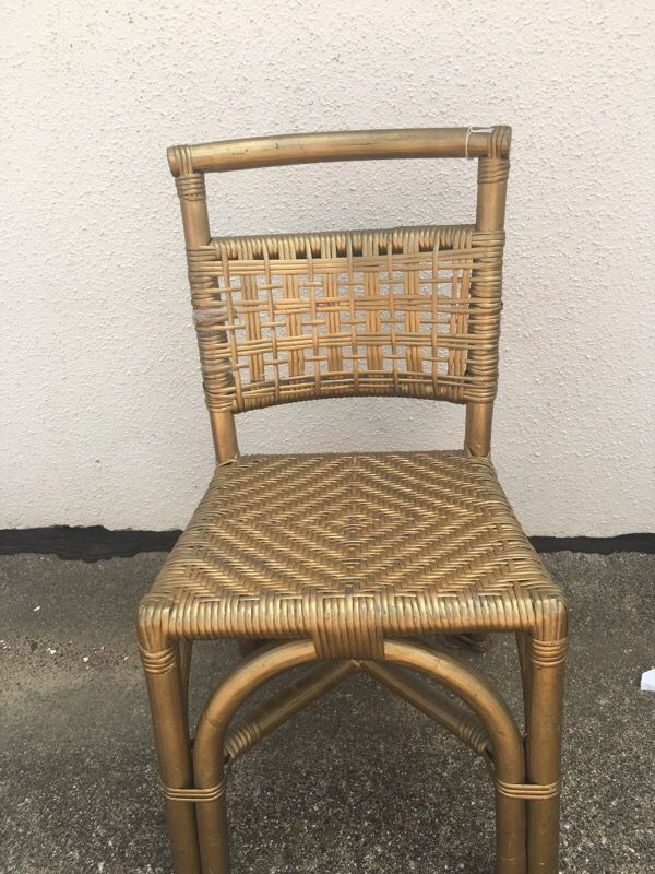 Vintage Small Childrens Furniture Painted Gold Rattan Antique Kids Chair by  NikkoChikko on Etsy | Shop - Antique Childrens Furniture Antique Furniture