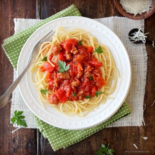 Pasta with Sausage Ragout