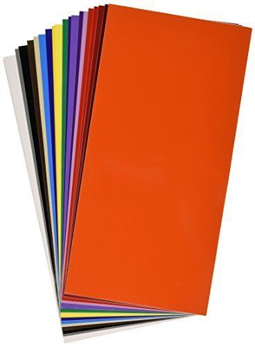 """6"""" x 12"""" 30 Sheets Assorted Colors Gloss Permanent Adhesive Vinyl Craft Cutter #VinylEase"""