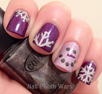 I think one (any of them, but not all) of these designs would be cute for a pedicure.