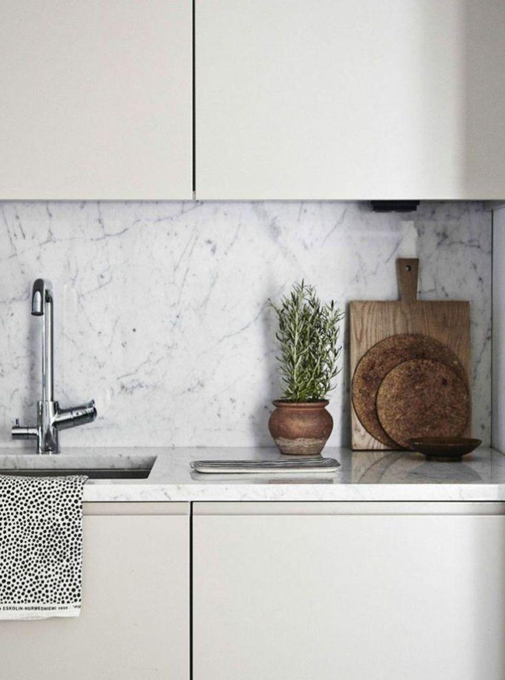 Arbeitsplatte Marmor Deko Kuche Modern Mobel Weiss Beige Kitchen Kitchen Inspirations Kitchen Marble