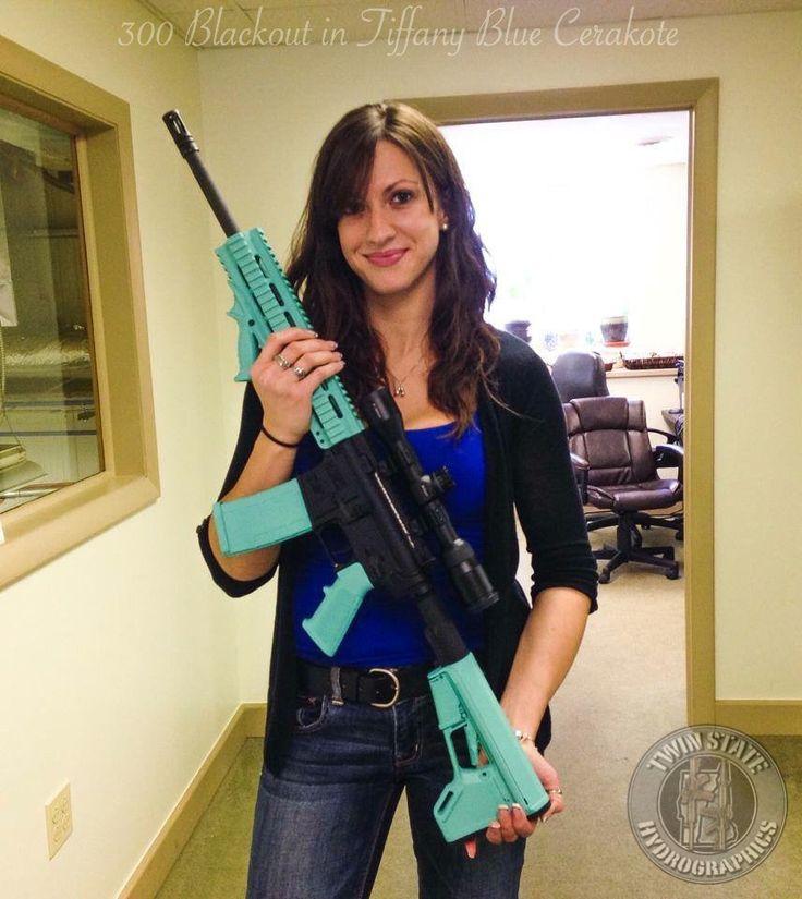 Tiffany blue, I want my AR redone like this!!! -Em