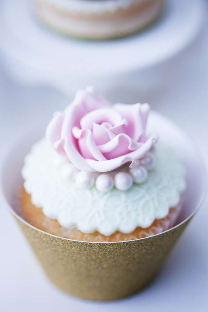 cupcake recipes for bridal shower%0A How pretty are the cupcakes at this Secret Garden Tea Party  See more party  ideas