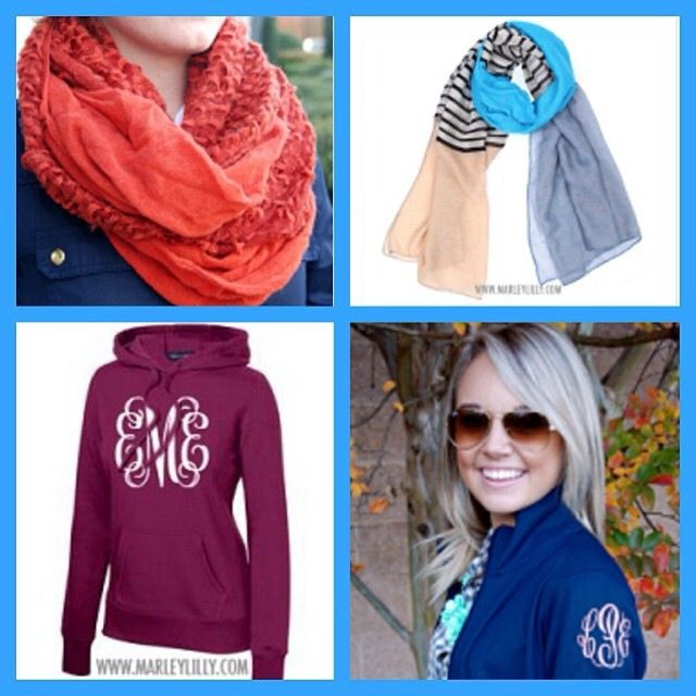 Monogrammed hoodie on Marly Lilly?! YES PLEASE!!