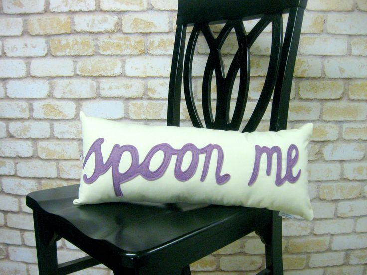 Spoon Me Pillow - Purple $53.49 #karmakiss #unique #gifts #love