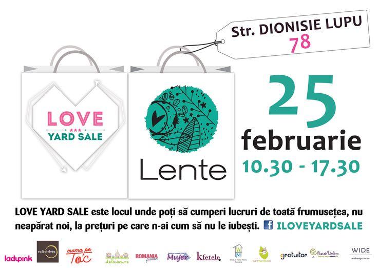 LOVE Yard Sale, târgul lucrurilor frumoase care merită încă o șansă să fie îndrăgite, vă invită la încă o ediție în luna februarie, pe data de 25, între orele 10.30 –17.30, în strada Dionisie Lupu 78. Gazda noastră este Lente.