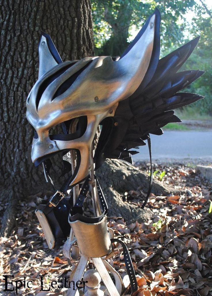 Leather Hawkgirl Helmet - Right Profile by Epic-Leather on DeviantArt