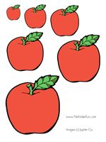 Apple Sizes Sequencing Games - make apples on tree different sizes so that you can also play sequencing game