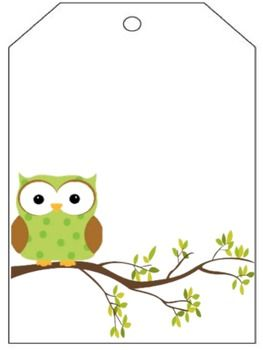 freeie Owl Cubby Name Tags