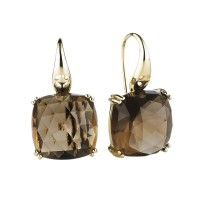 9CT SMOKY QUARTZ GATSBY EARRINGS jan logan