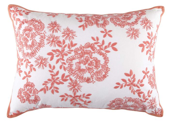 Freshen up your sofa or bedroom decor with Dare Gallery's Petula Cushion in a choice of melon, aqua or lime in a pretty floral design.  Price $49 each.